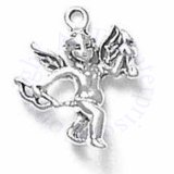 Cupid Angel Holding Bow In One Hand And Arrow In The Other 3D Charm