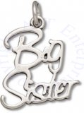 Cursive Big Sister Word Charm