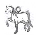 Small Cutout Silhoutte Pawing Horse Charm