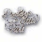 Daddys Little Girl In Cursive Charm