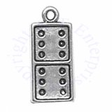 Sterling Silver 3D Double Six Domino Charm