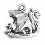 3D Dragon Viking Ship Charm