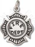 Fire Fighter Firemans Department Badge Charm