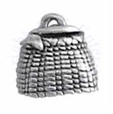 Fishing Basket With Fish Tail Coming Out Top Hollow Charm