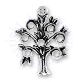 Flat One Sided Family Tree Charm