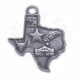 Flat Map State Of Texas Charm