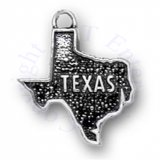 Flat Map State Of Texas Charm With TEXAS Word