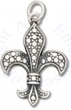 French Heritage Fleur De Lis Charm With Circle Designs