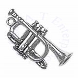 Instrument French Trumpet 3D Charm