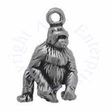 3D Gorilla Walking On Knuckles Charm