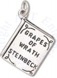 3D Two Sided Grapes Of Wrath Book Charm