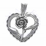 Heart With Flower Charm