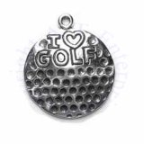 I HEART GOLF On A Golf Ball Charm