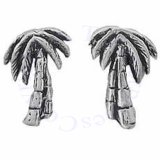 Island Palm Tree Post Earrings