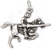 3D Jousting Armored Knight On Charging Horse Charm