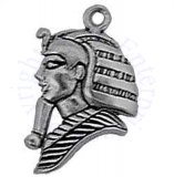 King Tut Egyptian Pharoah Head Charm