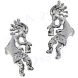 Left And Right Kokopelli Musician Ear Cuff Wrap Set