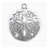3D Large Highly Detailed Sand Dollar Charm