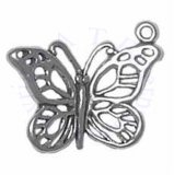 Sterling Silver Large Cutout Butterfly Charm