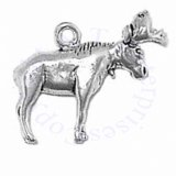 3D Large Detailed Moose With Antlers Charm