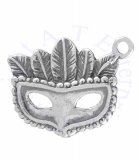 Top Feathered Head Costume Ball Or Mardi Gras Mask Charm
