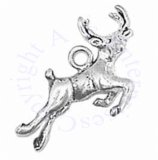 Leaping Deer Buck 3D Charm