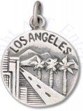 Los Angeles City Of Angels Two Sided Circle Charm