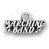 MARCHING BAND With Music Notes Word Charm