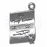 Hand Written Wavy Paper Marriage License Charm