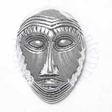 3D African Tribal Dancing Face Mask Charm