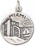 Miami Gateway To The Americas Two Sided Circle Charm