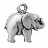 Mini Side Facing Smooth Elephant Charm