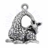 Mini Sitting Giraffe Head Down Charm