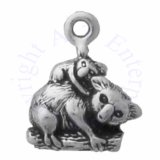 Mini Koala And Baby Koala On Branch Charm