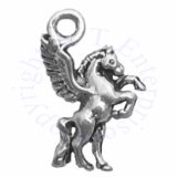 Mini Pegasus Pawing Charm