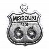 Missouri Route 66 Sign Charm