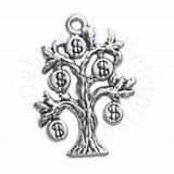 Sterling Silver 3D Money Tree Charm