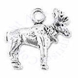 3D Small Detailed Moose With Antlers Charm