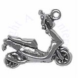 3D Ride On Moped Motor Scooter Charm