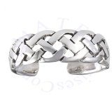 Open Irish Celtic Braided Weave Adjustable Toe Ring