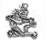 Cut Out Oriental Dragon Charm