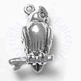 3D Perched Owl Bird With Head Turned Charm