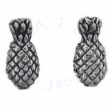 Partial 3D Pineapple Post Earrings