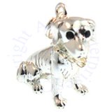 3D Pit Bull Bulldog With Engravable Collar Charm