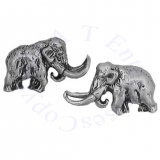 Prehistoric Elephant Woolly Mammoth Post Earrings