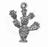 3D Opuntia Nopales Paddle Cactus Or Prickly Pear Cactus Charm
