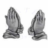 Religious Christian Prayng Hands With Cuff Post Earrings