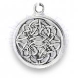 Round Circular Open Weave Unending Celtic Knot Charm