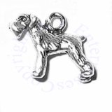 3D Small Schnauzer Bobtail Dog Breed Charm