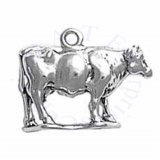 3D Side Facing Full Body Standing Cow Charm